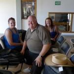 The trio at Big Corn Airport