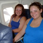 On the plane to Managua